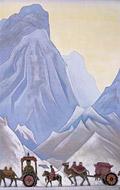 Н. К. Рерих. Приданое китайской принцессы Вен-Чин. 1929