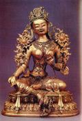 Зеленая Тара. Бронза. Тибет. XIX век
