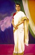 Рерих С.Н.: Портрет Индиры Ганди. 1980-е.