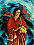 Рерих С.Н.:Девика РаниРерих. 1951.