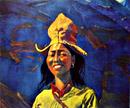 Рерих С.Н.: Девушка в желтом головном уборе. 1930-е.