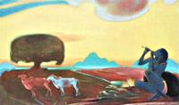 Рерих С.Н.:Священная флейта III. 1955