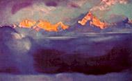 С.Н.Рерих. Канченджанга утром. 1952