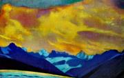 С.Н.Рерих. Закат над Маланой. 1938. Государственный музей искусства народов Востока. Россия. Москва