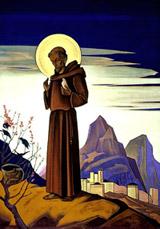 Н.К.Рерих. Святой Франциск .1932