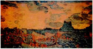 Н.К.Рерих. Бой. 1906