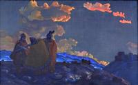 Н.К.Рерих. Короны. 1914