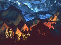 Шепоты пустынь. (Тибетский стан) Около 1936-1947 гг.