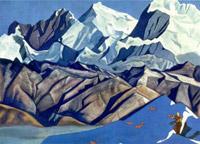 Н.К.Рерих. Красные кони (Кони счастья) 1925