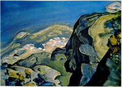 Н.К.Рерих. Победитель клада (На горной тропе). 1917