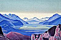 Н.К.Рерих. Горное озеро. 1936-37