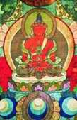 Амитаюс - будда долгой жизни. Вышивка. Монголия, XIX в.