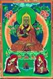 Цзонхава (основатель  ламаизма) с учениками,(композиция в виде триады)
