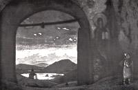 Н.К. Рерих. Святой Сергий. 1922.