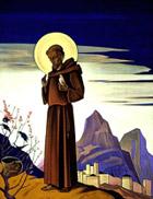Н.К.Рерих. Святой Франциск. 1932.