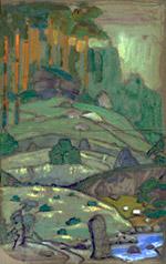 Н.К.Рерих. Мельница в горах (Действие 1-е). 1912
