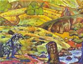 Н.К.Рерих. Холмы (2) 1912. Эскизы к пьесе Г.Ибсена