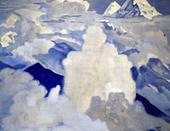 Н.К.Рерих. Белый и небесный. 1924