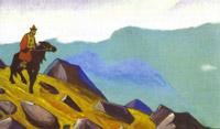 Н.К.Рерих. Чингиз-хан (Всадник. Монголия). 1937