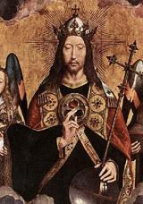 На груди Христа, на знаменитой картине Мемлинга, знак запечатлен в виде большой нагрудной фибулы