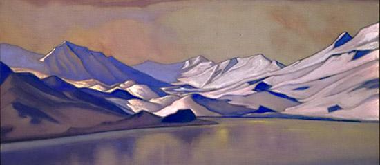 Н.К.Рерих. Горное озеро. Перевал Баралача 1944