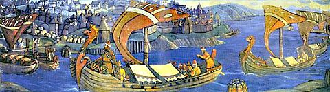Н.К.Рерих. Садко (декоративное панно). 1910