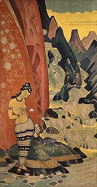 Н.К.Рерих. Песнь водопада. 1920