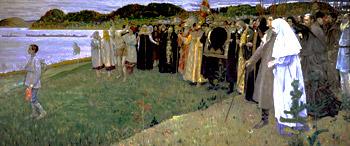 М.Нестеров. На руси (Душа народа) (1914-1916)