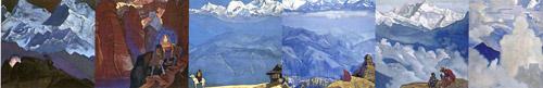 I-ая половина красочного калейдоскопа картин Н.К.Рериха из серии
