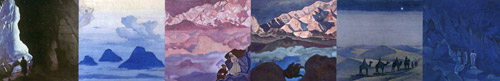 II-ая половина красочного калейдоскопа картин Н.К.Рериха