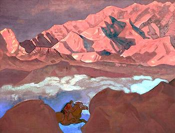 Н.К.Рерих. Спешащий. 1924