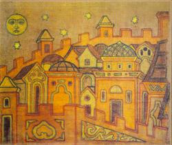 Н.К.Рерих.Город.1914