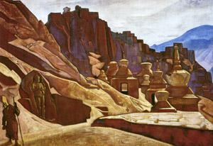 Н.К.Рерих. Твердыни стен. 1925