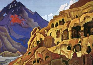 Н.К.Рерих. Мощь пещер. 1925