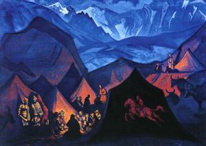 Н.К.Рерих. Шепоты пустыни. 1925