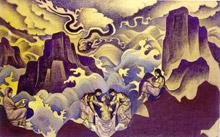 Н.К.Рерих. Змей.(Рождение мистерий). 1924