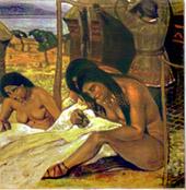 Н.К.Рерих. Задумывают одежду (Каменный век). 1908