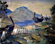 Н.К.Рерих. Волокут волоком. 1915
