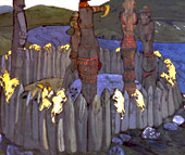 Н.К.Рерих. Идолы. 1901