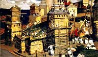 Н.К.Рерих. Город строят. 1902