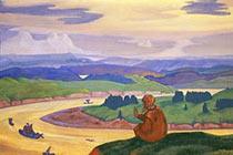 Прокопий Праведный за неведомых плавающих молится. 1914