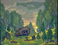 Н.К.Рерих. Урочище. 1912