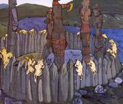 Н.К.Рерих. Идолы (эскиз).1901