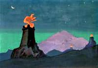 Н.К.Рерих. Цветы Тимура (Огни победы) (эскиз). 1931