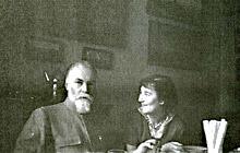 С.Н.Рериха и Л.С.Митусова в Москве  на квартире Ю.Н.Рериха. Май-Июль 1960.