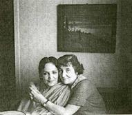 Девика Рани Рерих и Л.С.Митусова на квартире Ю.Н.Рериха. Май-июль 1960.