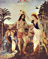 Леонардо да Винчи. Крещение Христа