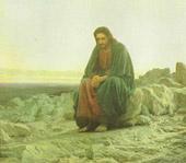 Крамской. Христос в пустыне.