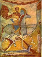 Фреска из церкви Святого Георгия в Старой Ладоге