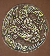 Один из кельтских знаков древа жизни в виде дракона